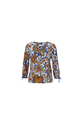 Blouse with v neck