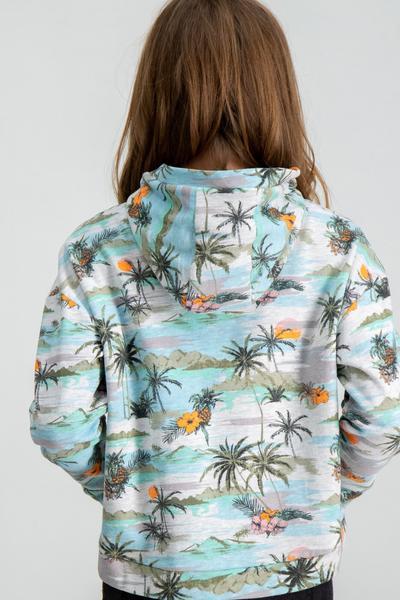 Hoodie mit tropischem Print