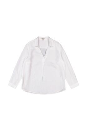 CURVY Tunika-Bluse aus 100% Leinen