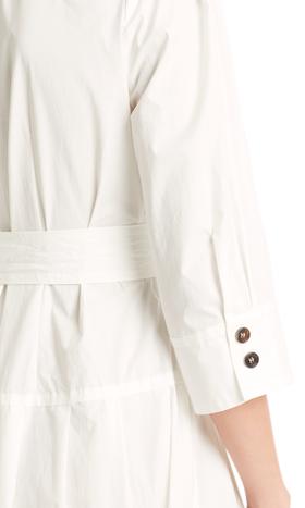 Feminines Hemdkleid aus Baumwolle