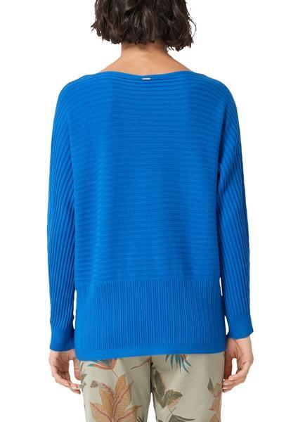 Fledermaus-Pullover mit Struktur-Mix