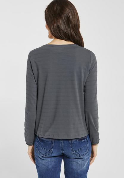 Streifen Struktur Shirt