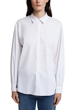Bluse aus Baumwoll-Stretch