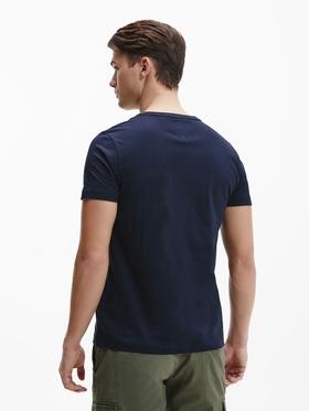 Bio-Baumwoll-T-Shirt mit Branding-Details