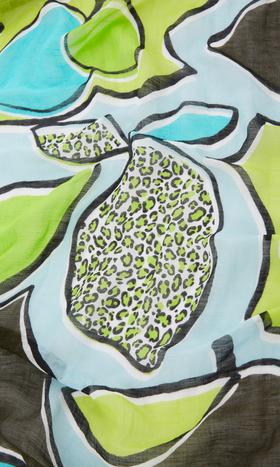 Schal mit Lemon-Print