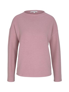 Sweatshirt mit kurzem Stehkragen