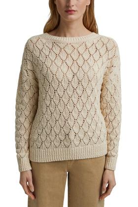 Pullover mit Lochmuster, 100% Organic Cotton
