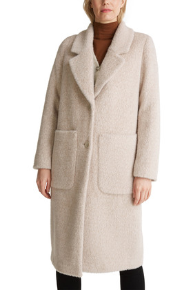 Melierter Fake-Fur-Mantel