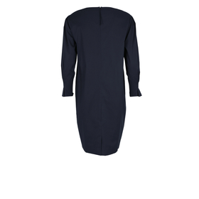 Baumwollstretch-Kleid mit weitem Arm