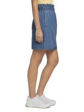 Mini Jeansrock mit elastischem Bund
