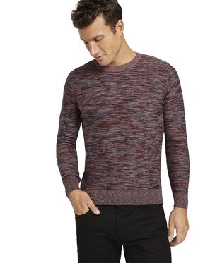multicolored crew neck sweater