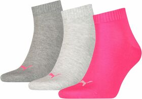 Puma Unisex Quarter Plain 3er Pack Socken