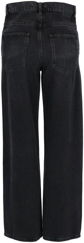 "Regular-Fit Jeans ""Modern Barrel"" aus dunkelgrauem Denim in Cropped-Länge"