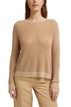 Mit Leinen: luftig gestrickter Pullover