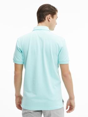 Regular Fit Poloshirt mit aufgestickter Flag
