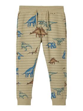 Sweathose mit Dinosaurier-Print