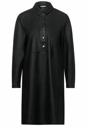 Kleid in Fake Leder-Optik