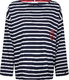 Essential T-Shirt mit Breton-Streifen