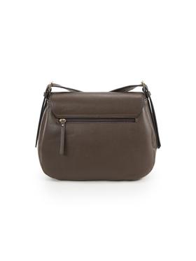 MILANA Flap bag, dark brown