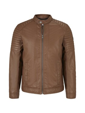 faux leather biker jacket NOS