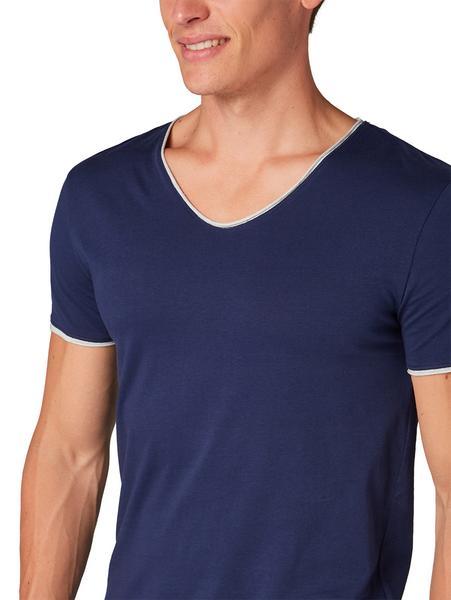 T-Shirt mit kontrastfarbigem Underlayer