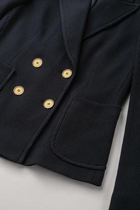 Doppelreihiger Jersey-Blazer