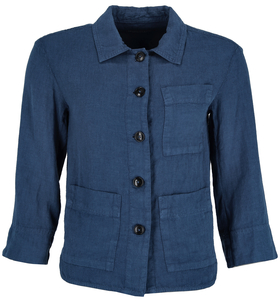 Jacket, shirt style, attached pocke