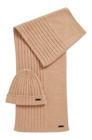 Set aus Mütze und Schal aus reinem Kaschmir