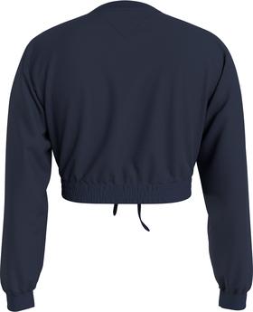 Cropped Fit Bio-Baumwoll-Sweatshirt mit Badge