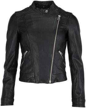 Leather Jacket, regular fit, washed