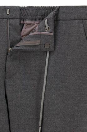 Slim-Fit Hose aus Stretch-Wolle