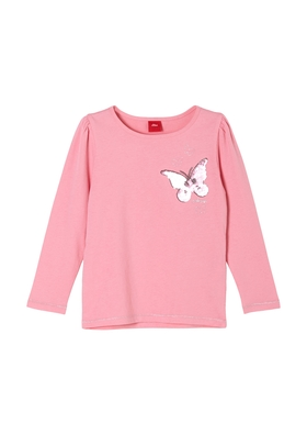Langarmshirt mit Schmetterling-Motiv