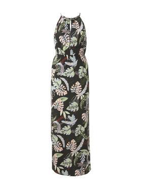 tropical neckholder dress