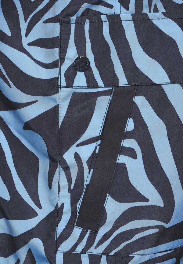 Windbreaker mit Zebramuster