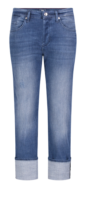MAC JEANS - RICH Straight turn up, Light authentic denim