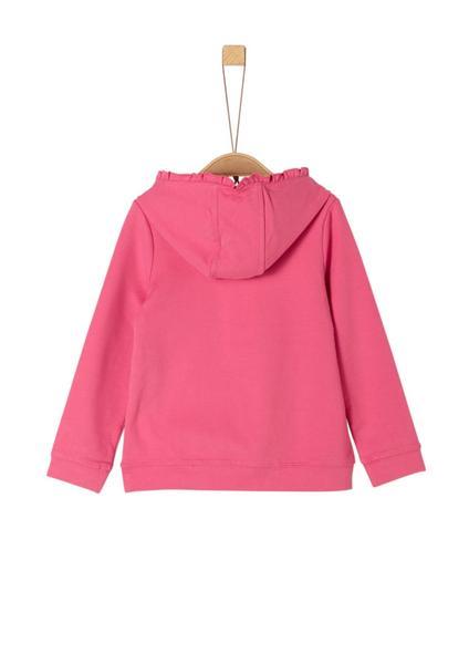 Sweatshirt mit Rüschenkante