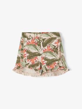 Shorts mit Blätterprint