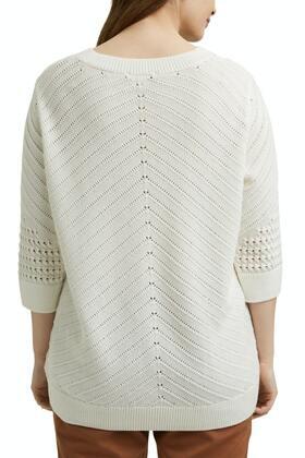 Ajour-Pullover aus 100% Organic Cotton