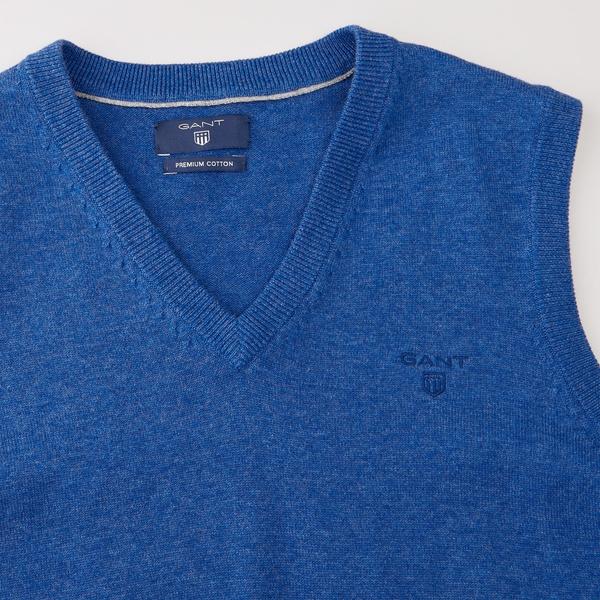 LT. WEIGHT COTTON SLIPOVER-blue bell melan