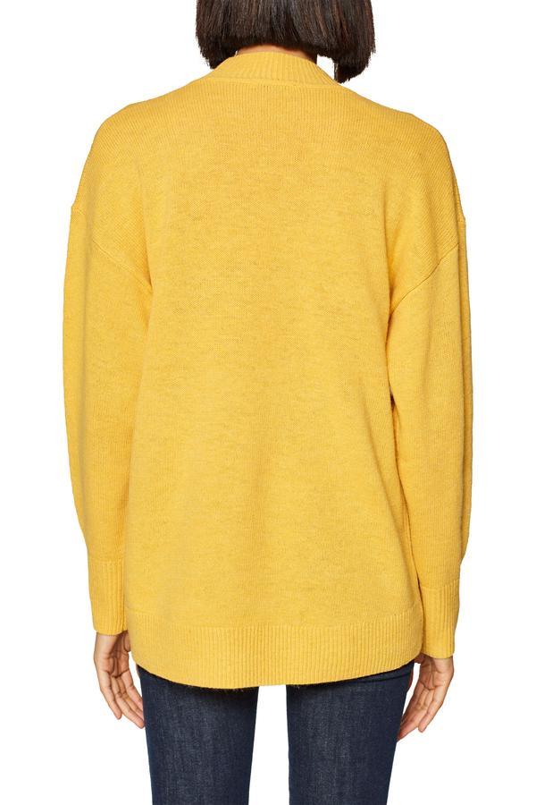sweater hi low-HAZY GREY