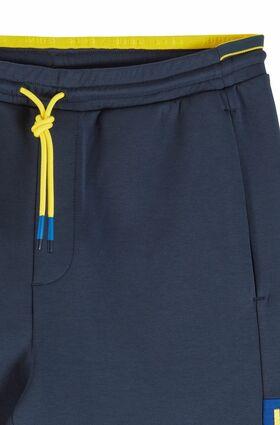 Shorts aus Interlock-Jersey mit Colour-Block-Logo
