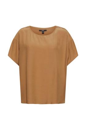 Kurzarm-Bluse mit LENZING™ ECOVERO™