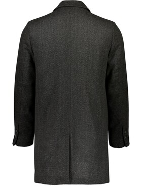 Structure fabric wool coat