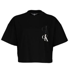 Verkürztes T-Shirt mit Logo-Print
