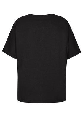 Statement-T-Shirt mit Pailletten-Applikation