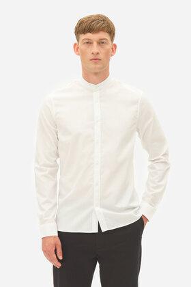 Oxfordhemd mit Stehkragen