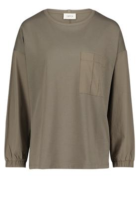 Sweatpullover mit aufgesetzter Brusttasche